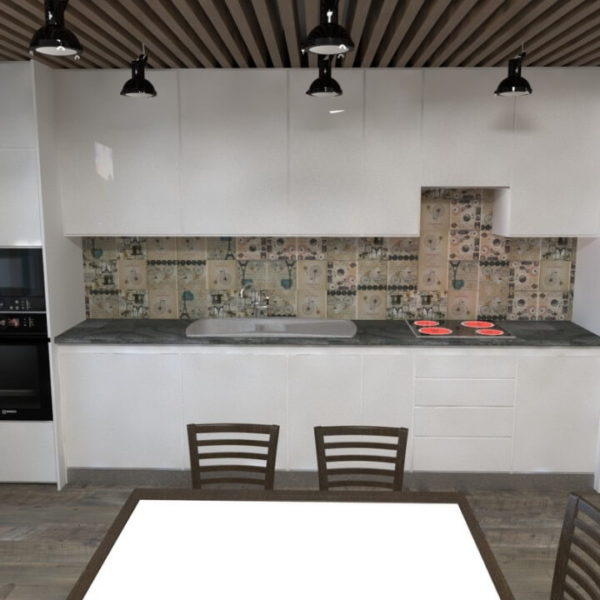 full room дизайн проект кухні з балконом