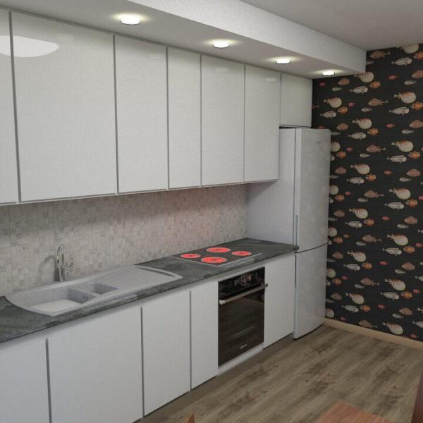 full room дизайн проект великої білої кухні