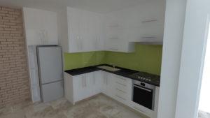 full room дизайн проект білої кухні