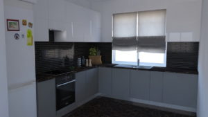 full room кухня темна цегла приклад