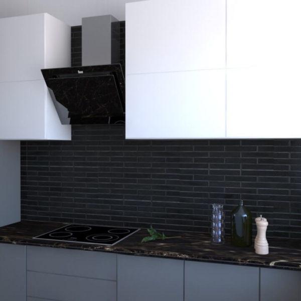 full room кухня темна цегла