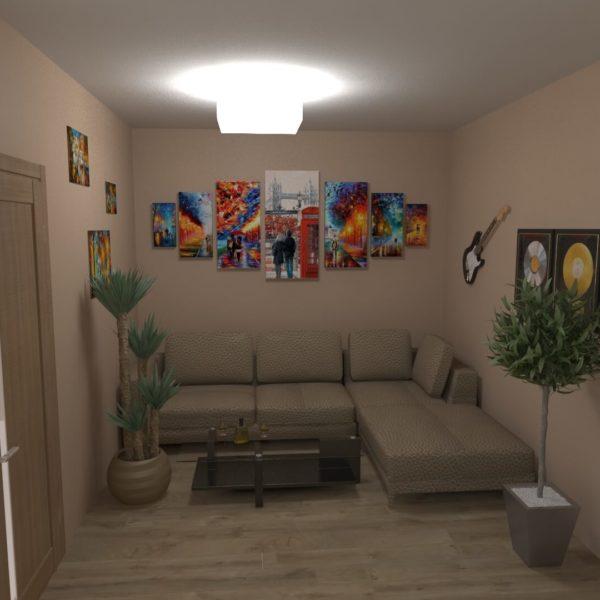 Full Room дизайн проект коридор-вітальні
