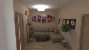 Full Room дизайн проект коридор-вітальня