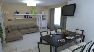 Full Room дизайн проект кухні-вітальні