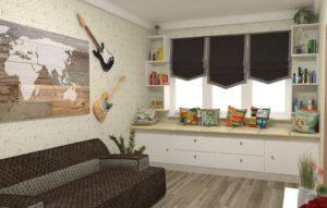 Full Room дизайн проект спальні