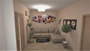 Full Room дизайн коридор-гостинная