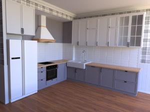 Full Room дизайн кухні-студії