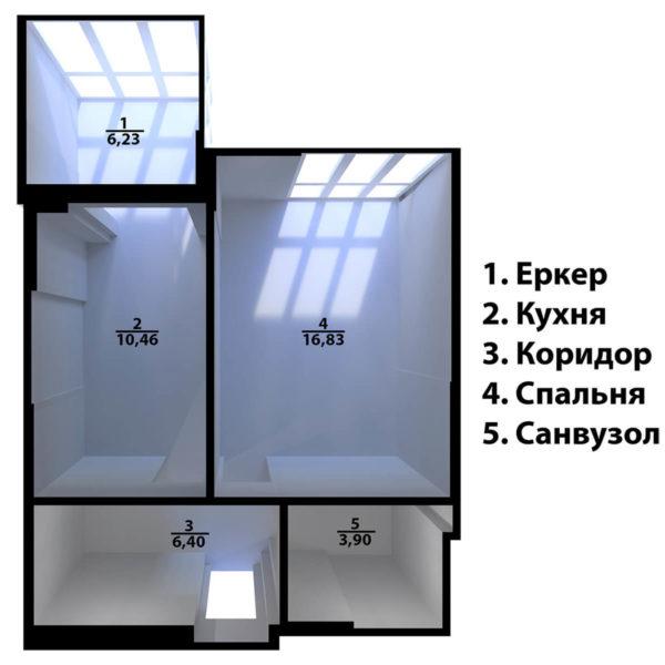 Full Room планування забудовника