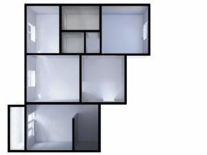 План квартири після перепланування