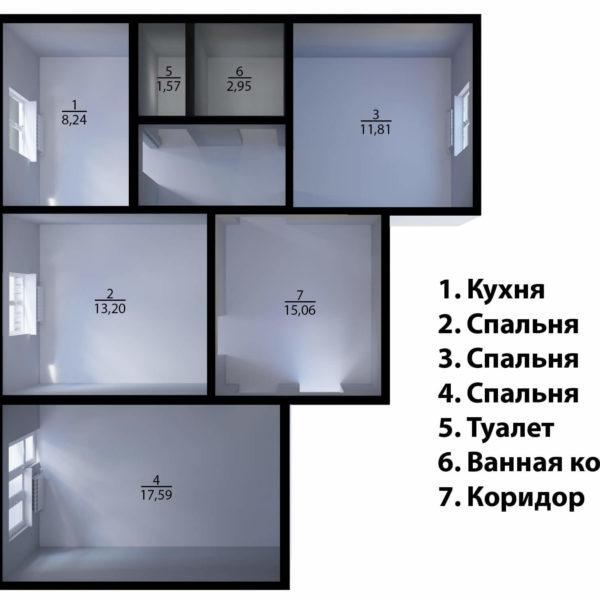 План квартиры до перепланировки