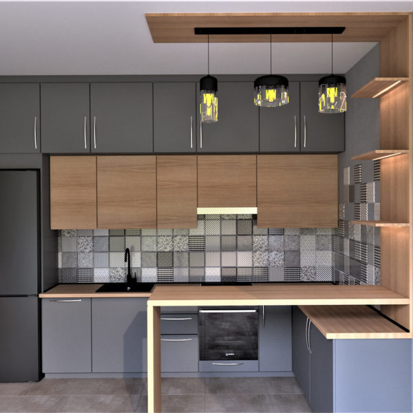 Full Room дизайн кухни-студии