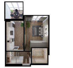 Full Room проект с мебелью