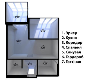 Full Room проект перепланировки