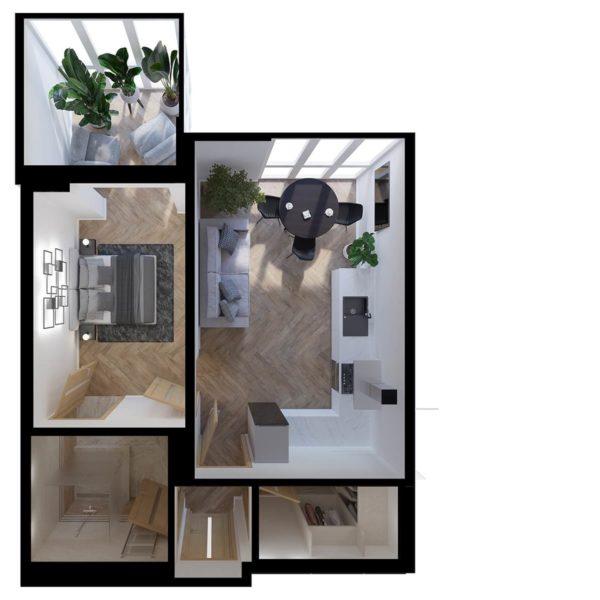 Full Room проект з меблями